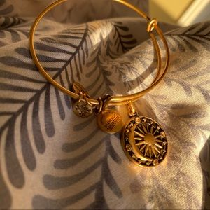 Alex and Ani gold moon and sun bracelet